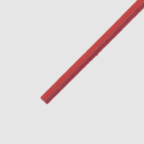 Cowies Red- זוג שרוכים מעור בצבע אדום