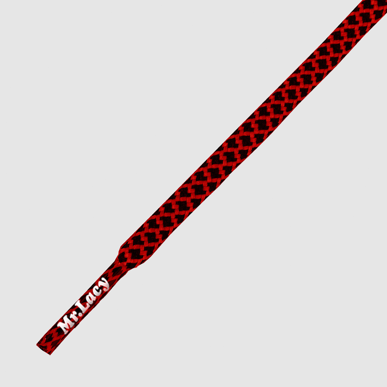 Ropies Black Red- זוג שרוכים חבל עגול בצבע שחור אדום