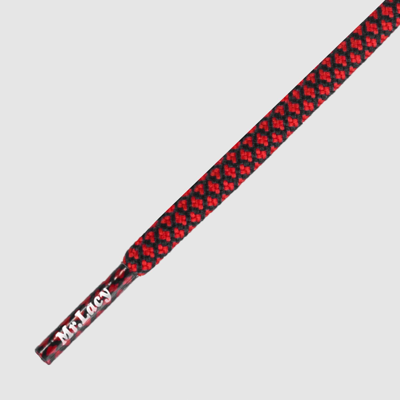 Ropies Black Red- זוג שרוכים חבל עגול בצבע אדום שחור