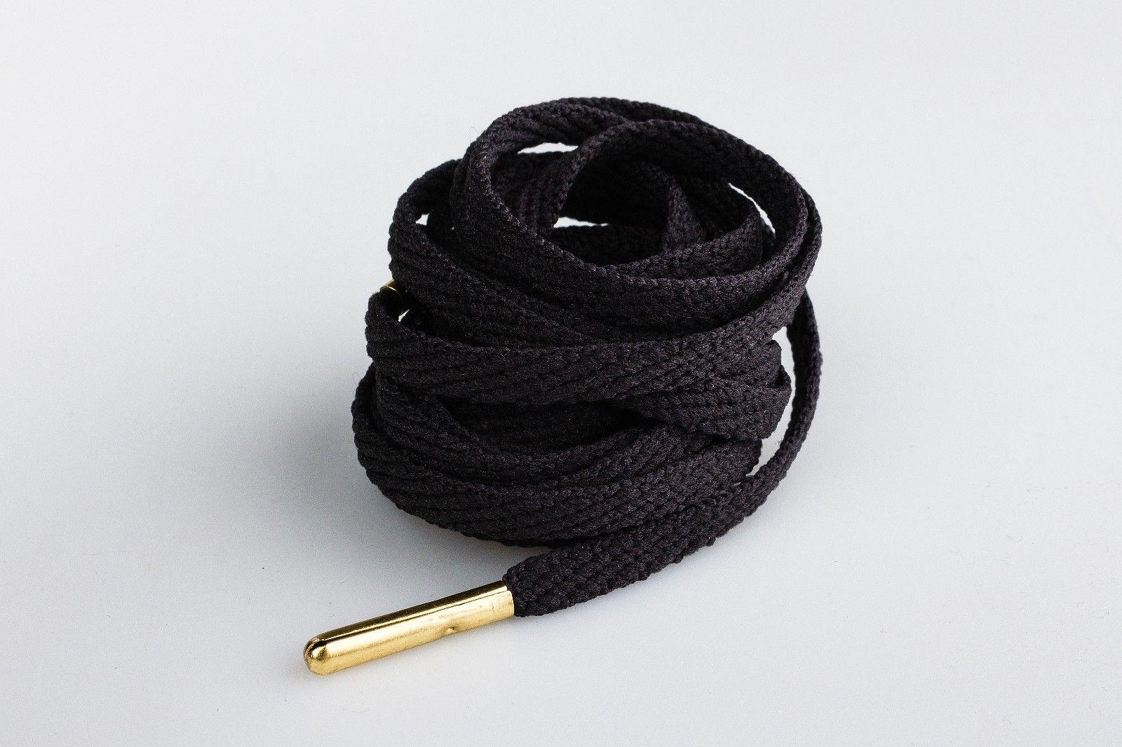 Skinnies Black Gold Tip- זוג שרוכים צרים בצבע שחור עם אגלט בצבע זהב