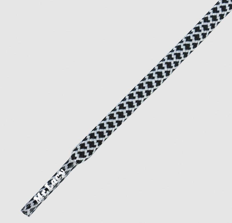 Ropies Black White- זוג שרוכים חבל עגול לבן שחור