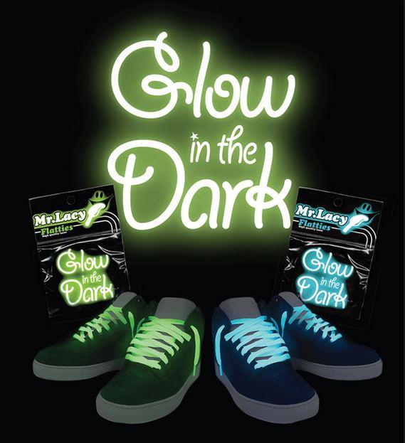Glow In The Dark Green- זוג שרוכים זוהרים בלילה בצבע ירוק