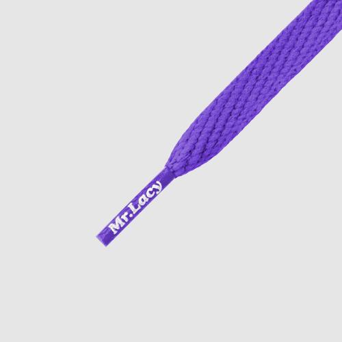 Smallies Violet- זוג שרוכים קצרים בצבע סגול