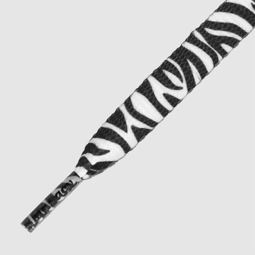 Printies Zebra Black White- זוג שרוכים עם ההדפס זברה שחור לבן