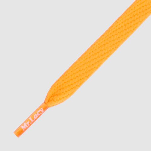 Flatties Junior Bright Orange- זוג שרוכים שטוחים לילדים בצבע כתום