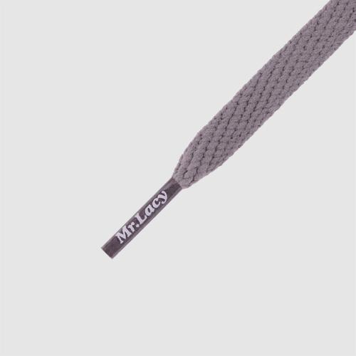 Smallies Dark Grey- זוג שרוכים קצרים בצבע אפור כהה