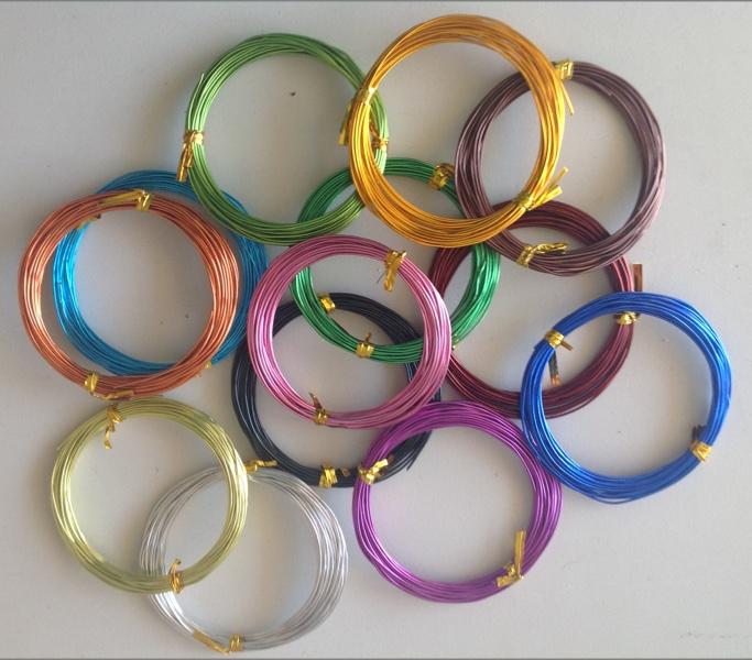 חוט אלומיניום צבעוני 1 מ״מ-5 מטר