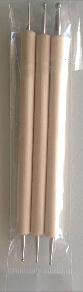שישה ראשי כדור (מתכת)  , 3 כלים Stylus