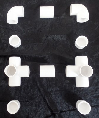 סט מחברים למסגרת עם רגליות (עם 2 חיבורי ביניים)