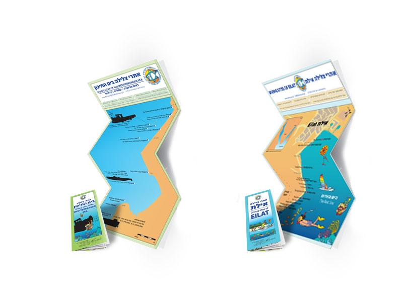מפות אתרי צלילה: ים סוף וים תיכון
