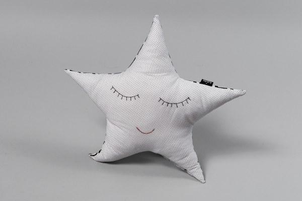 כוכב לבן עם נקודות - כרית נוי