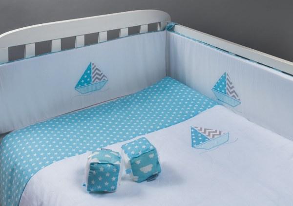 מפרשיות - סט מצעים בהזמנה אישית למיטת תינוק