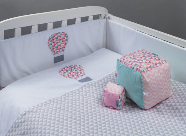 כדור פורח - סט מצעים בהזמנה אישית למיטת תינוק