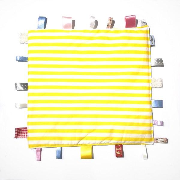 צהוב פסים - שמיכי תווית