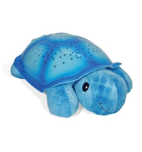 צב כחול תאורת כוכבים - בובה מנגנת ומאירה