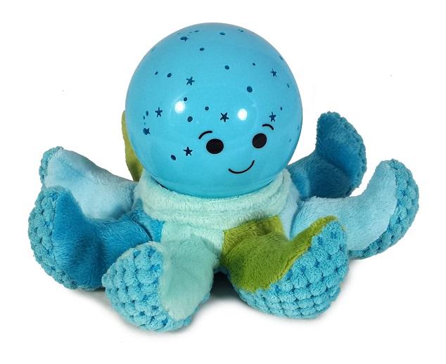 תמנון כחול תאורת כוכבים - בובה מנגנת ומאירה