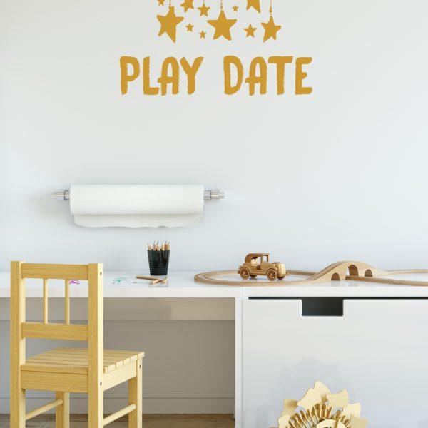 מדבקות קיר - PLAY DATE