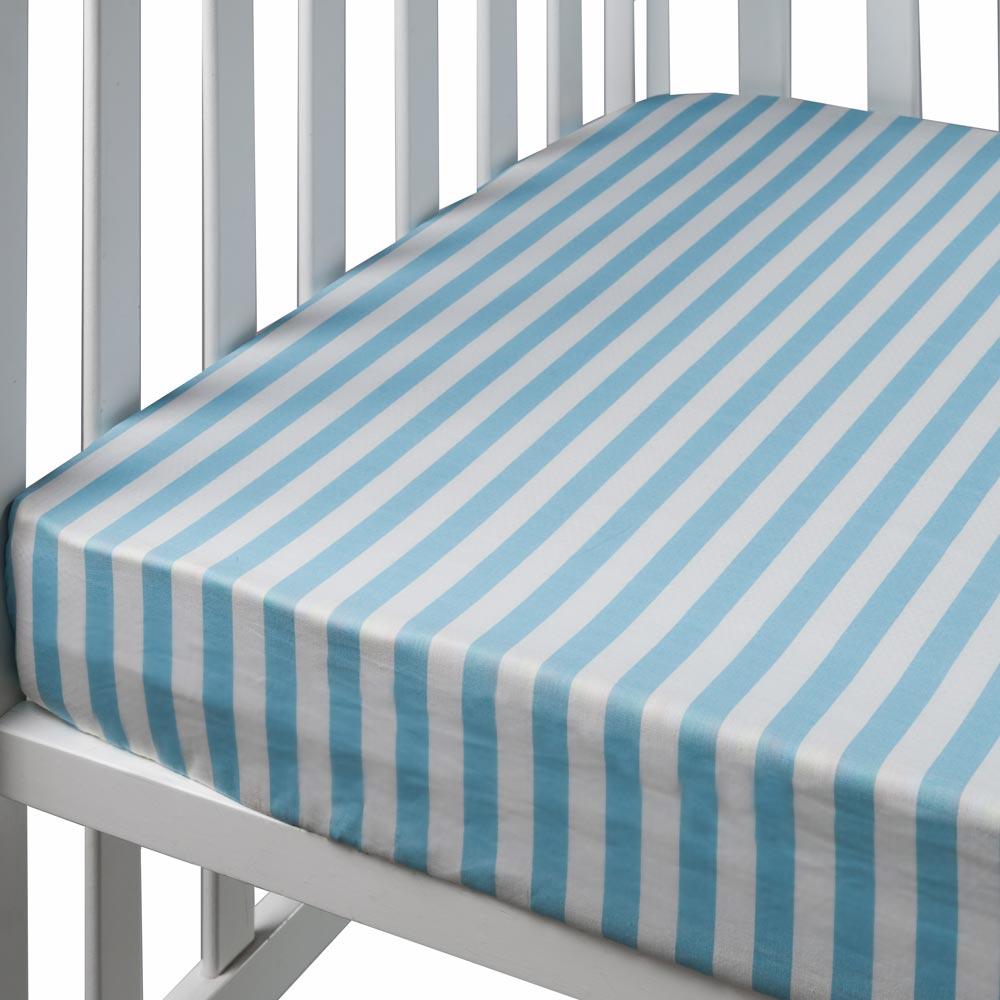 תכלת פסים - סדין למיטת נוער