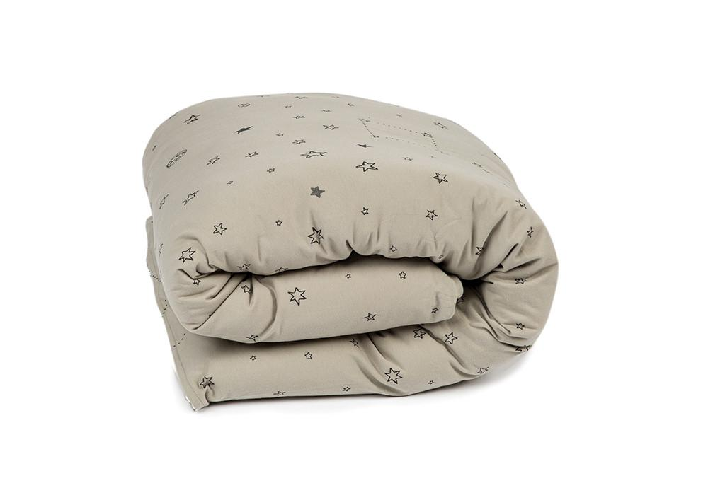 אבק כוכבים אפור - סט מצעים למיטת תינוק