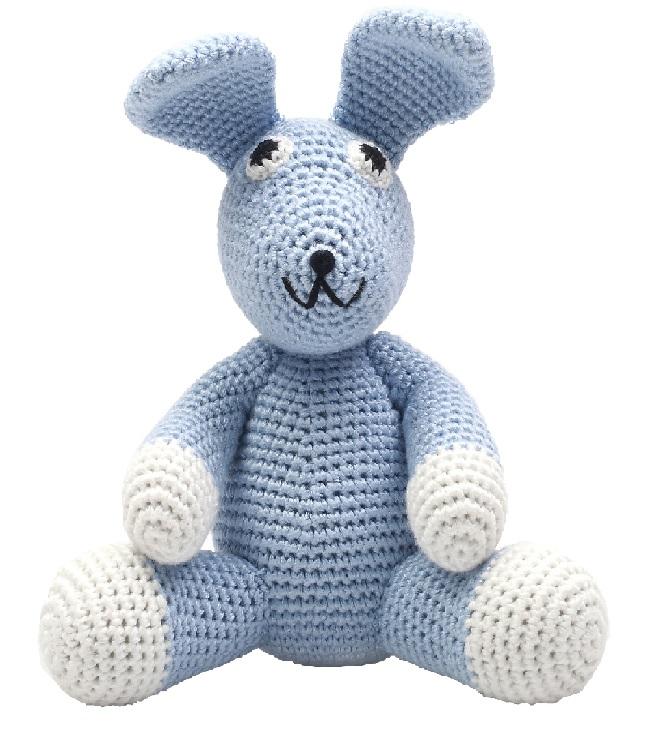 ארנב כחול גדול - בובות סרוגות