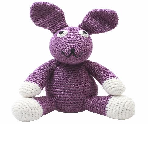 ארנב סגול סטנדרט - בובות סרוגות
