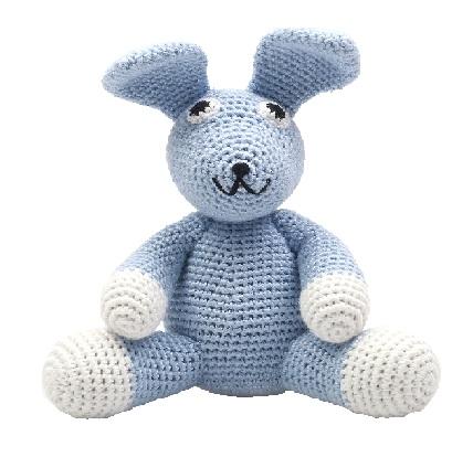 ארנב כחול סטנדרט - בובות סרוגות