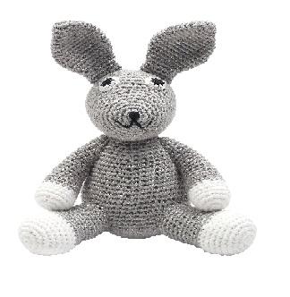 ארנב אפור סטנדרט - בובות סרוגות