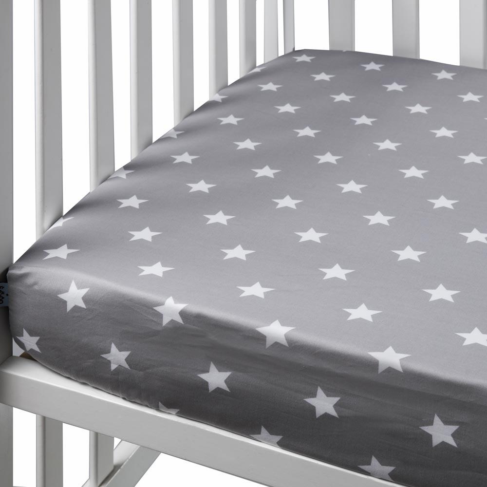 אפור כוכבים - סדין למיטת נוער
