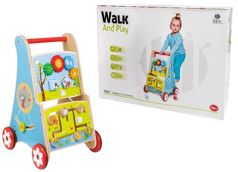 מעודד הליכה 12 חודשים - צעצועי עץ