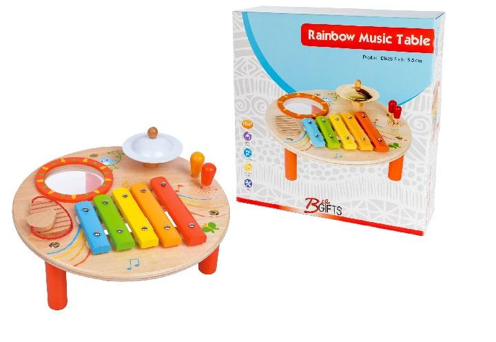 שולחן מוזיקלי 12 חודשים - צעצועי עץ