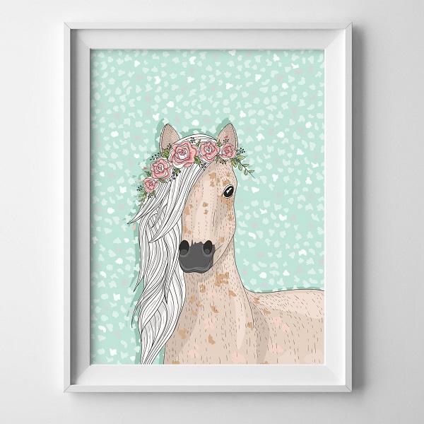 תמונת סוס ממוסגרת - תמונות