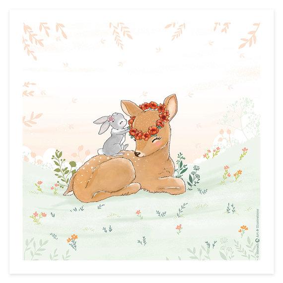 פוסטר במבי עם ארנב - תמונות