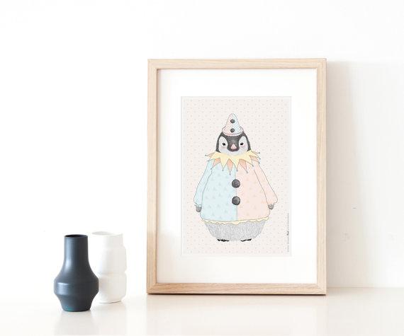 פוסטר פינגווין צבעוני - תמונות