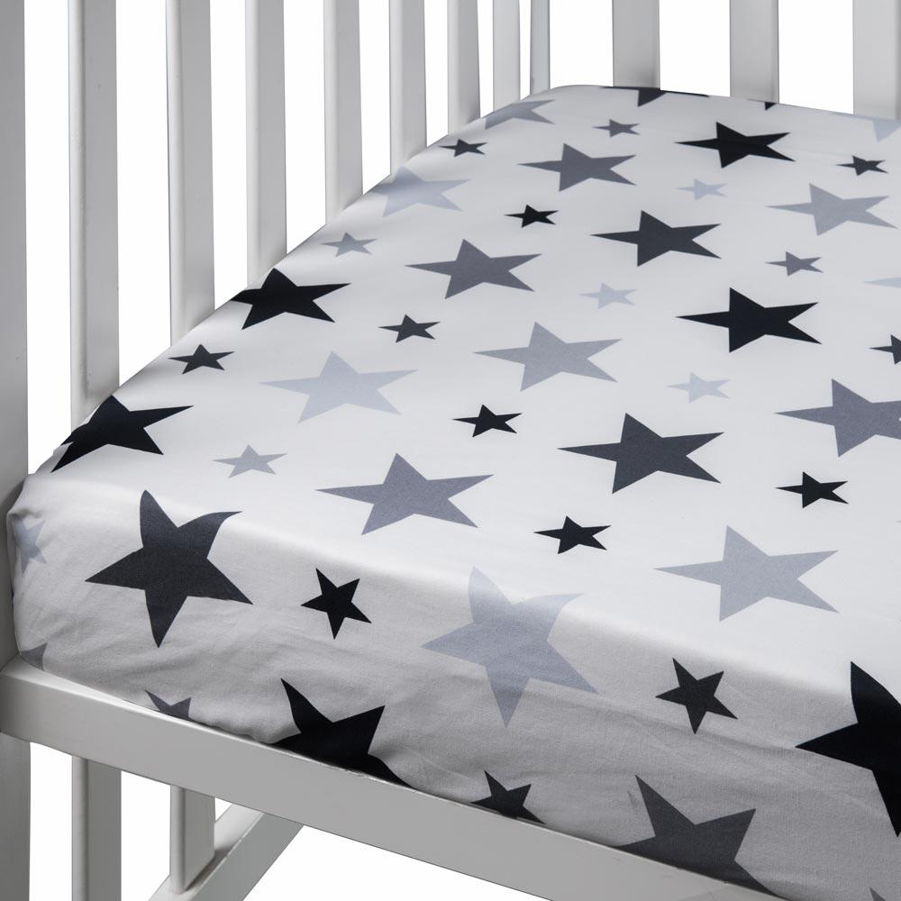 לבן כוכבים גדולים -סדין למיטת נוער
