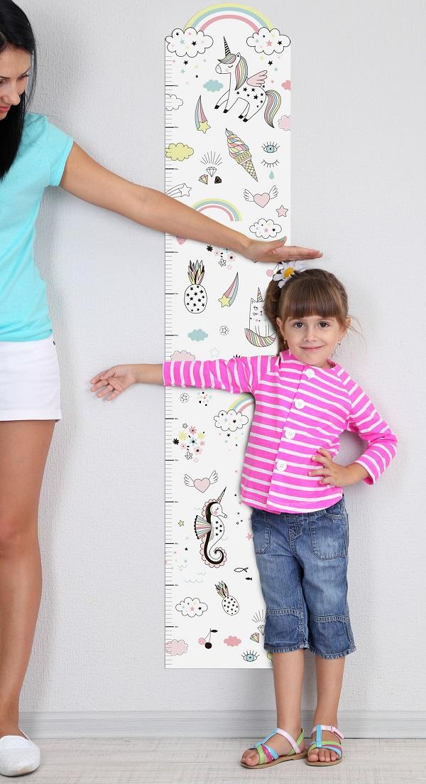 חד קרן מדבקת גובה - מדבקות קיר