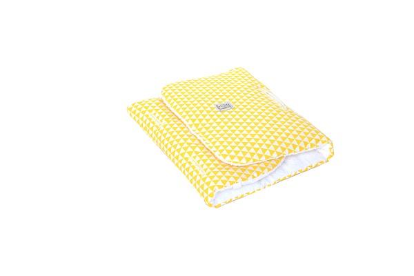 צהוב משולשים - ריפודית לעגלה