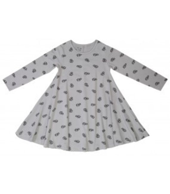 שמלת ג'רזי - אפור הדפסים
