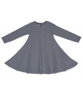 שמלת ג'רזי - פסים דקים