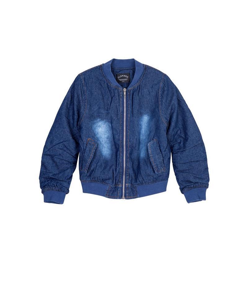 ג'קט ג'ינס בומבר - ג'ינס כחול כהה