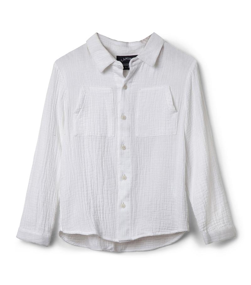 חולצה מכופתרת אמדאוס - לבן