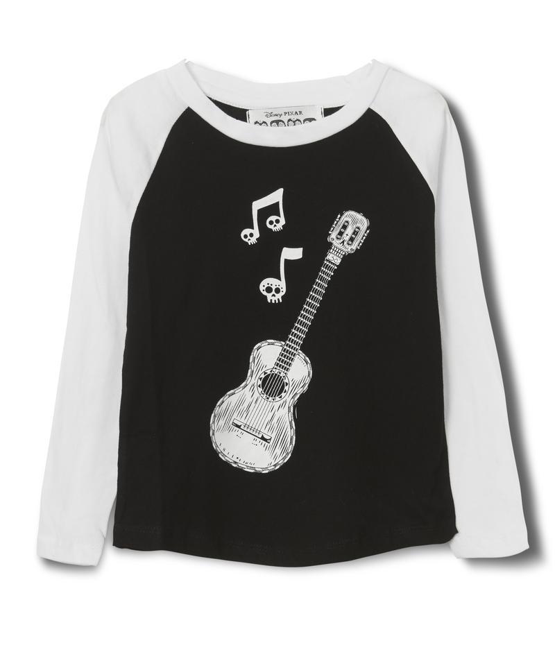 חולצה אמריקאית מיוזיק - שחור לבן