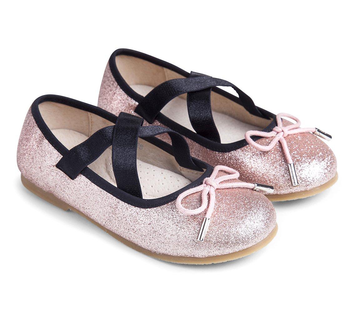 נעלי בובה פרינסס - ורוד נצנצים