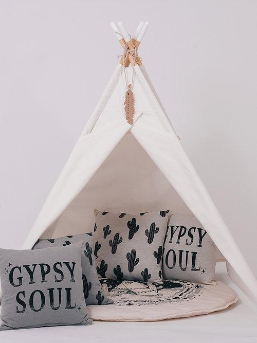 אוהל טיפי עץ סיומת ורודה