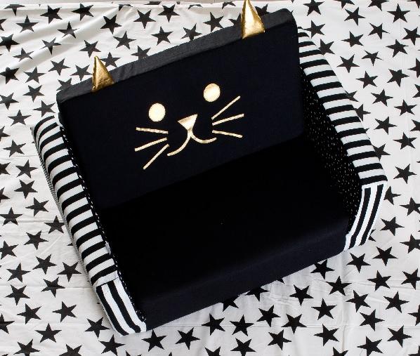 חתול זהב שחור לבן - ספה נפתחת לקטנטנים
