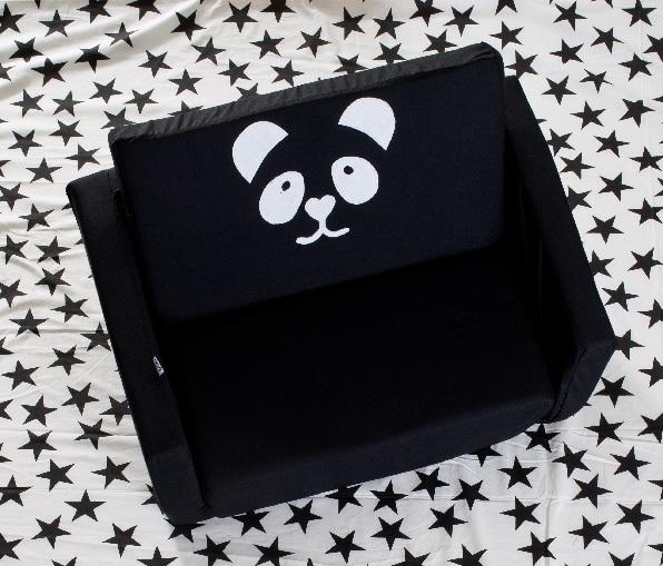 פנדה שחור לבן - ספה נפתחת לקטנטנים