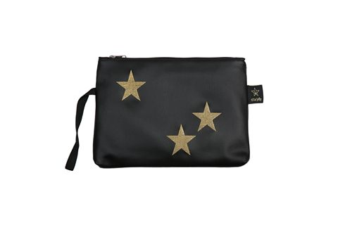 כוכבים שחור זהב - תיק קלאץ' מעוצב