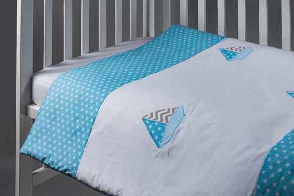 סירה - שמיכה למיטת תינוק