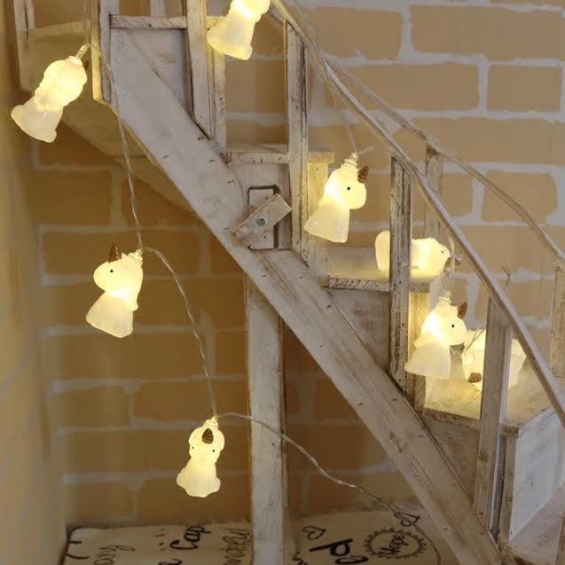 גרלנדת חד קרן מנורות צהובות