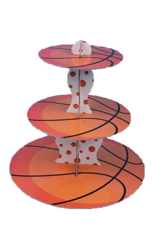 מגש שלוש קומות כדורסל