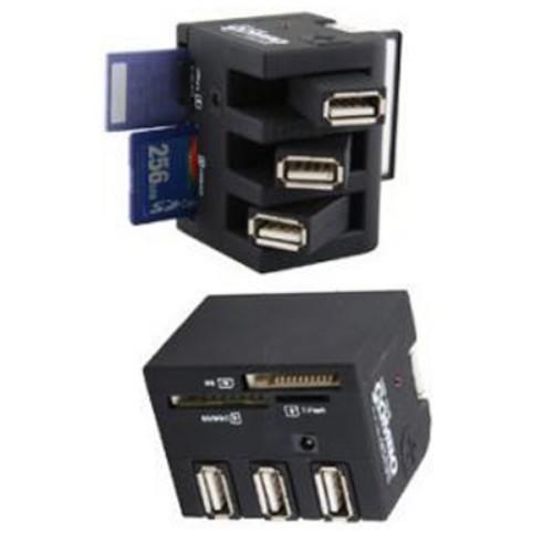 קורא כרטיסי זיכרון בעל מפצלי USB